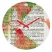 DENY Designs Susanne Kasielke Santa Claus Dictionary Art Wall Clock