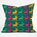 DENY Designs Gabriela Larios Reindeers Throw Pillow