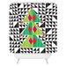 DENY Designs Zoe Wodarz Geo Pop Tree Woven Polyester Shower Curtain