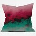 DENY Designs Caleb Troy Zero Visibility Poinsettia Ombre Throw Pillow
