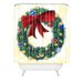 <strong>Madart Inc. Pine Wreath Woven Polyester Shower Curtain</strong> by DENY Designs