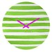 <strong>Social Proper Spruce Stripes Wall Clock</strong> by DENY Designs