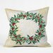 <strong>Madart Inc. Holly Wreath Throw Pillow</strong> by DENY Designs