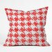 DENY Designs Social Proper Candy Houndstooth Throw Pillow