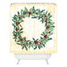 DENY Designs Madart Inc. Holly Wreath Woven Polyester Shower Curtain
