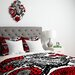 Julia Da Rocha Raven Rose Duvet Cover by DENY Designs
