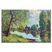 <strong>River Landscape at Moret sur Loing Painting Print on Canvas</strong> by Buyenlarge