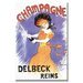 <strong>'Delbeck Reims Champagne' Vintage Advertisement on Canvas</strong> by Buyenlarge