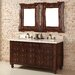 "<strong>James Martin Furniture</strong> Castilian 60"" Double Vanity Set with Stone Top"