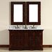 """<strong>James Martin Furniture</strong> Monterey 60"""" Double Vanity Set with Stone Top"""