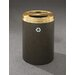 RecyclePro Dual Stream 33 Gallon Multi Compartment Recycling Bin by Glaro, Inc.