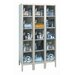 Safety-View Plus Stock Lockers - Five Tiers - 3 Sections (Unassembled) by Hallowell