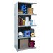 "Hallowell Hi-Tech Extra Heavy-Duty Closed Type 87"" H 4 Shelf Shelving Unit Add-on"