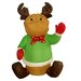 4' Christmas Inflatable Sitting Reindeer