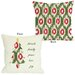 Holiday Friends Family Peace Ikat Christmas Tree Reversible Pillow