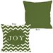 <strong>OneBellaCasa.com</strong> Holiday Joy Chevron Stripe Pillow