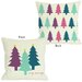 One Bella Casa Very Merry Christmas Trees Reversible Pillow