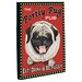 <strong>Doggy Decor Portly Pug Graphic Art on Canvas</strong> by OneBellaCasa.com