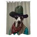 Pets Rock Cowboy Polyester Shower Curtain