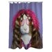 <strong>OneBellaCasa.com</strong> Pets Rock Hippie Polyester Shower Curtain