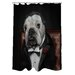 One Bella Casa Pets Rock Dog Barker Polyester Shower Curtain