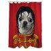 One Bella Casa Pets Rock Pop Polyester Shower Curtain