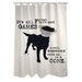 One Bella Casa Doggy Decor All Fun and Games Polyester Shower Curtain