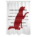 One Bella Casa Doggy Decor Dog Codependent Polyester Shower Curtain