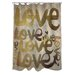 One Bella Casa Oliver Gal Four Letter Word Polyester Shower Curtain