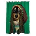 One Bella Casa Pets Rock Reggae Polyester Shower Curtain