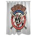 <strong>OneBellaCasa.com</strong> Doggy Decor Boston Brew Polyester Shower Curtain