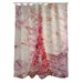 Oliver Gal Love Letters Polyester Shower Curtain