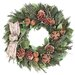 Cheerful Holiday Greetings Wreath