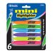 <strong>Mini Fluorescent Highlighter (Set of 6)</strong> by Bazic