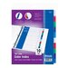 <strong>3-Ring Binder Dividers with 10 Color Tabs</strong> by Bazic