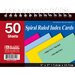 Bazic Spiral Bound Ruled Colored Index Card