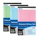 <strong>Bazic</strong> 3 Ct. Multi Color Jr. Perforated Writing Pad (Set of 24)