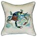 Betsy Drake Interiors Coastal Crab Indoor / Outdoor Pillow