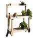 <strong>Rustic Natural Cedar Furniture</strong> Cedar Potting Bench Planter
