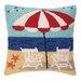 Peking Handicraft Nautical Hook Beach Getaway Pillow