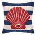 <strong>Peking Handicraft</strong> Nautical Hook Seashell Stripe Pillow