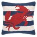 <strong>Nautical Hook Crab Stripe Pillow</strong> by Peking Handicraft