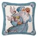 <strong>Peking Handicraft</strong> Coral and Shells Santa Needlepoint Pillow