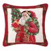 Holly Sparkle Needlepoint Pillow