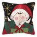Friendly Santa Present Hook Pillow