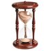 <strong>River City Clocks</strong> 60 Minute Sandglass in Cherry