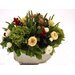 <strong>Lush Artificial Floral and Greenery Mix in a Oval Metal Planter</strong> by Distinctive Designs