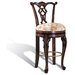 Swivel Counter Stool in Dark Brown