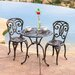 <strong>Home Loft Concept</strong> Stella 3 Piece Cast Aluminum Outdoor Bistro Set