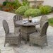 <strong>Home Loft Concept</strong> Tarah 5 Piece Wicker Dining Set